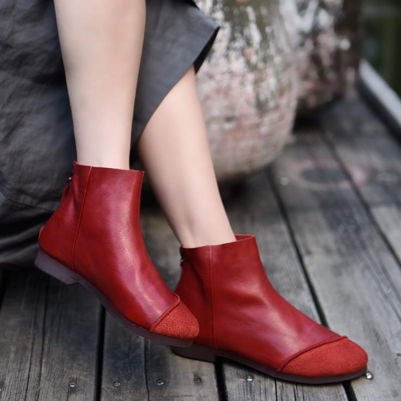 Artmu Original 2018 New Fall and Winter Soft Ankle Boots Handmade Genuine Leather Comfortable Womens Boots Mama Shoes 1819-2Artmu Original 2018 New Fall and Winter Soft Ankle Boots Handmade Genuine Leather Comfortable Womens Boots Mama Shoes 1819-2