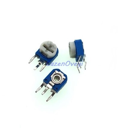 20pcs/lot RM063 <font><b>500</b></font> <font><b>ohm</b></font> blue and white can be adjusted resistance <font><b>potentiometer</b></font> 500R 501 image