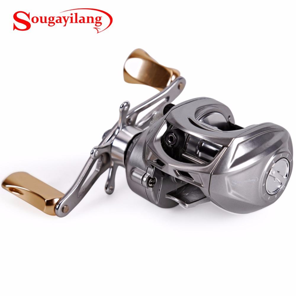 Sougayilang Right or Left Baitcasting Reel 9+1 Ball Bearing 7:1 Gear Ration Bait Casting Magnetic Brake System Fishing Reel 12 1bb left right hand bait casting fishing reel 6 3 1 baitcasting reel magnetic brake system fish wheel pesca lyw 013