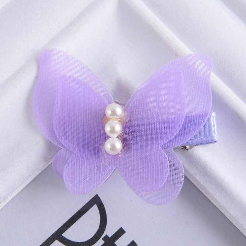 1 шт. бант конфетного цвета заколки в виде бабочек для девочек принцесса жемчужные заколки для волос Детская шпилька головной убор модные аксессуары