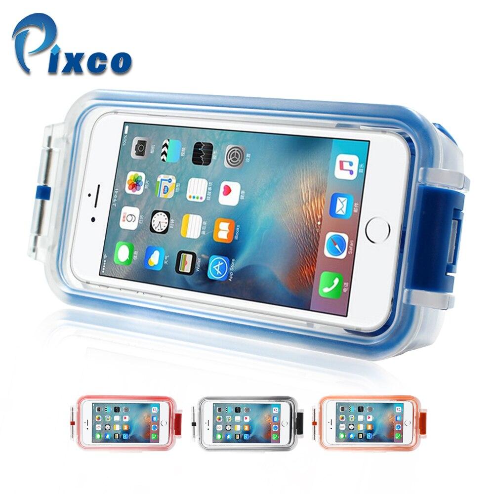 Pixco Bluetooth 30m Underwater Waterproof Smartphone Case Upgraded version for iPhone 4.7
