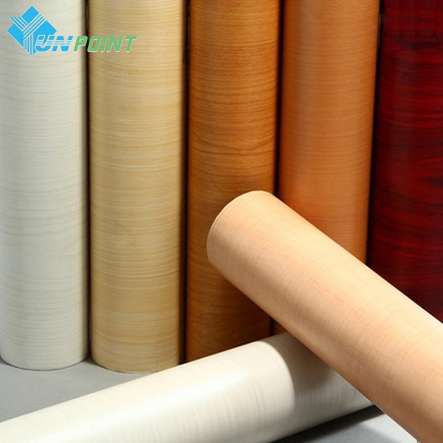 5meter self adhesive wall paper wood grain waterproof pvc for Vinyl waterproof wallpaper