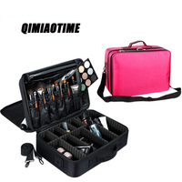 QIMIAOTIME The New Multifunctional Waterproof Nylon Cloth Cosmetic Bag Travel Storage Bag Ladies Portable Interior Partition Box