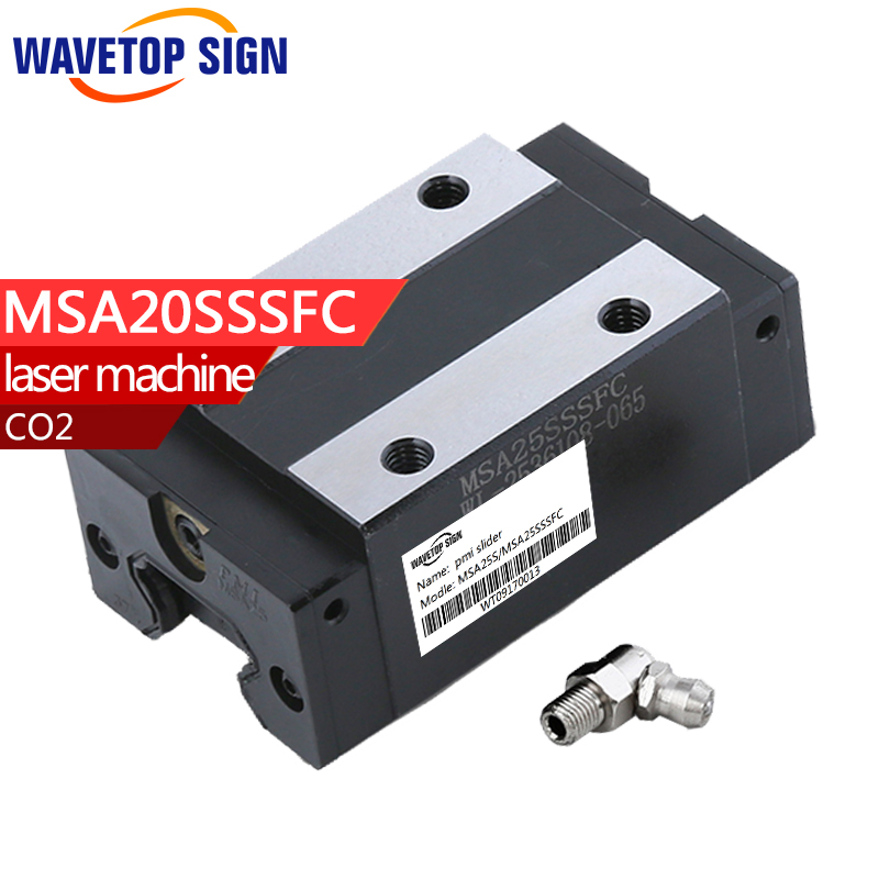 PMI Linear Guide Slide carriage block MSA25S MSA25SSSFC slider use for co2 laser machine good quality High accuracy No noise new original rexroth runner block ball carriage r162221322 slider 100% test good quality