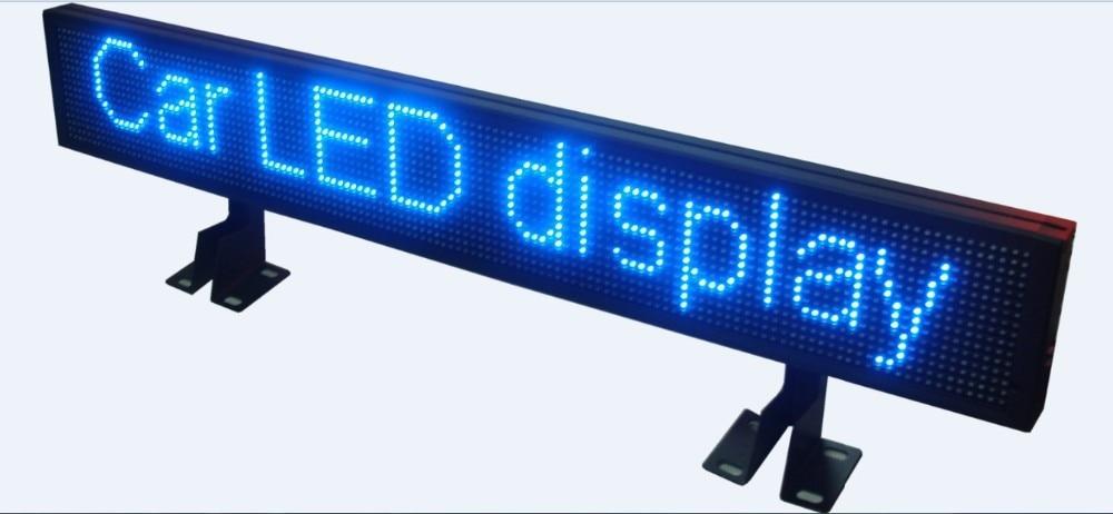 Blue 12v LED Car Display Board USB Information Input LED Car Sign LED Programmable Message Sign--45 Kinds Moving Action