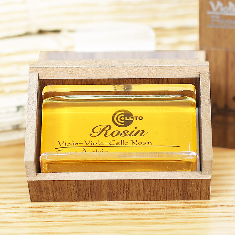 Violin Viola Cello Bows Rosin Luxurious Cuboid Wooden Box Violin Viola Cello Bows Rosin LETO 8010 Rosin