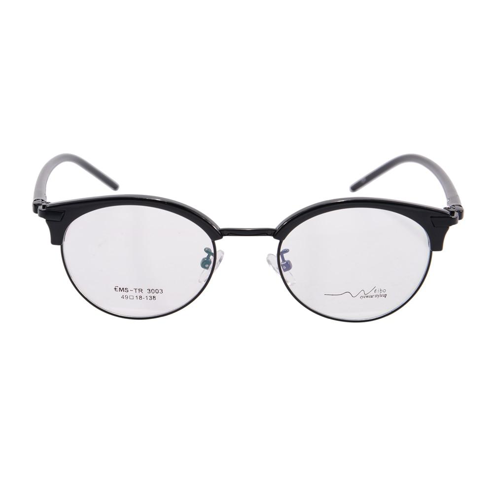 hot sale round eyeglasses frame women fashion glasses brand designer prescription eyewear tr90 optical frame oculos