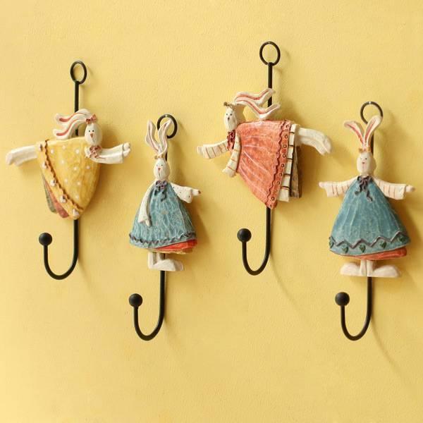 Креативный домашний крючок для пальто / шапки, божьи коровки и настенный крючок из смолы Daisy, Robe Hooks, украшение из цветов