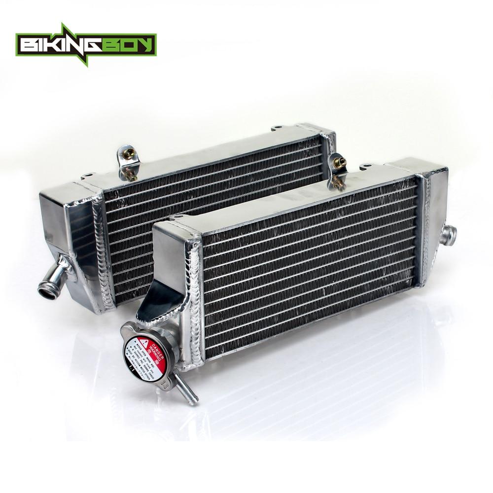 BIKINGBOY MX Offroad Bike Motorcycle Full Set Engine Water Cooling Radiators For KTM 250 350 450 SX-F SXF EXC-F 2014 2015 14 15 стоимость