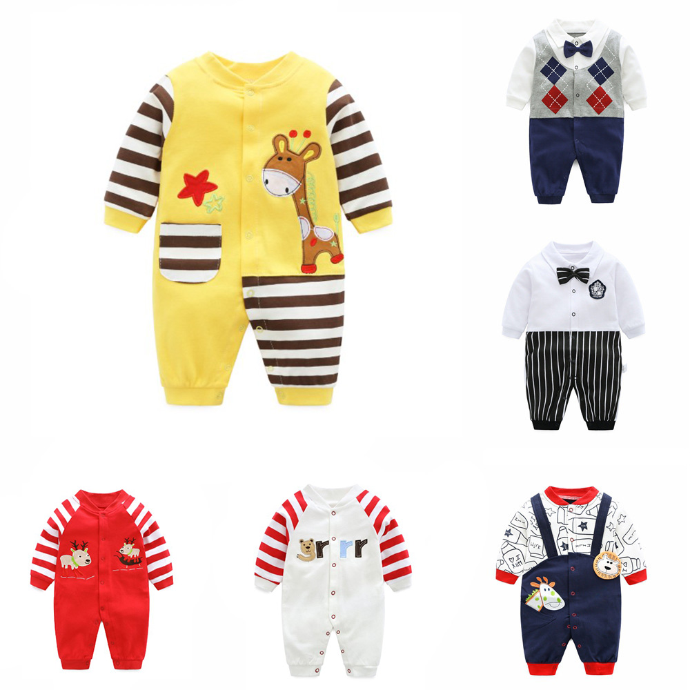 2020 Mother Newborn Baby Boys Girls Clothes 0-12 Months Cotton Kids Romper Long Sleeve Spring And Autumn Outwear Clothing