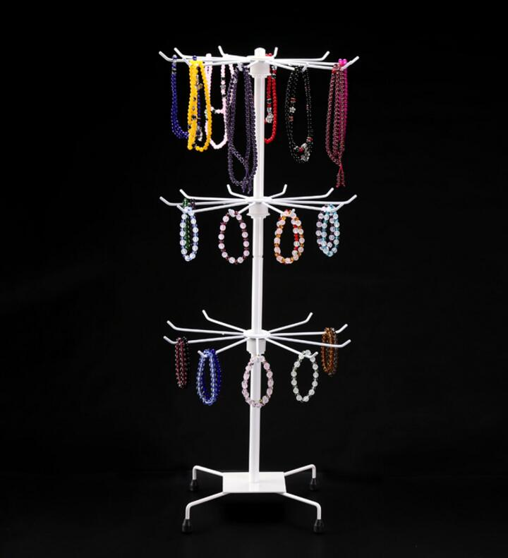 Fashion Metal Necklace Chain Bracelet Rotation display Holder Jewelry Display Stand Rack scarves tie wig bracelet Hanger
