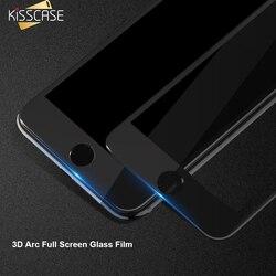 KISSCASE 3D Plein Écran En Verre Film pour iPhone 7 8 7 Plus X Protecteur D'écran En Verre Trempé Film de Couverture pour l'iphone 7 6 verre