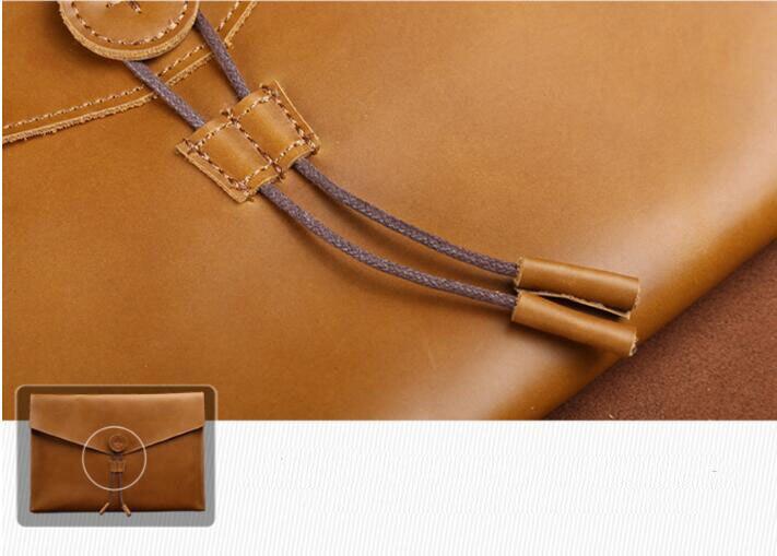A4 pasta de couro natureza saco de