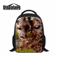 Dispalang Kawaii Little Children Kindergarten Schoolbag Zoo Giraffe Print School Bagpack For Kids Backpacking Bag Daypack