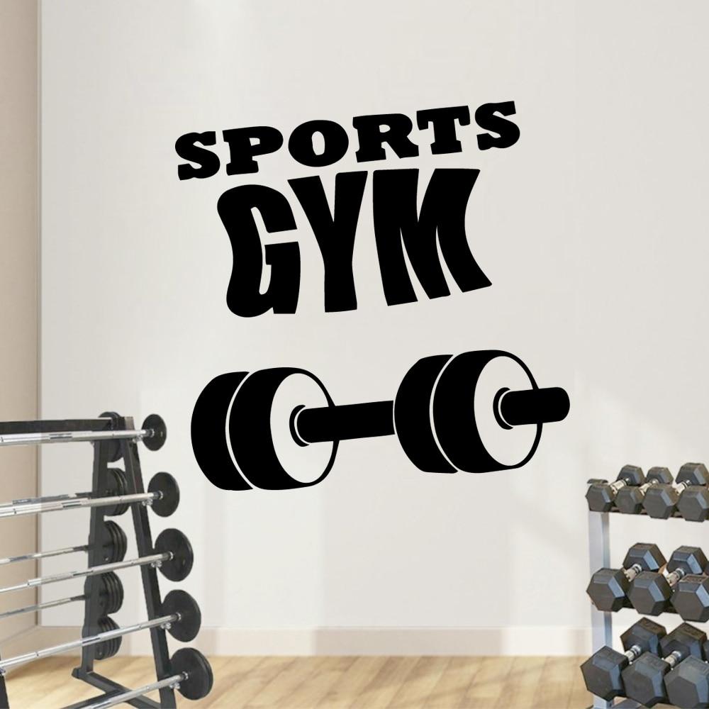 Fashion Sports Gym Vinyl Wall Sticker Home Decor Stikers Removable Decoration Wallpaper