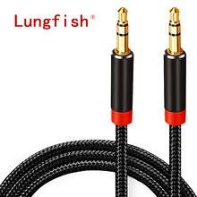 Cavo AUX Lungfish Jack cavo Audio da 3.5mm cavo per altoparlante Jack da 3.5mm 1m 2m 3m 5 m per iphone altoparlante per cuffie per auto Samsung xiaomi