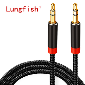 Image 1 - Lungfish AUX Cable Jack 3.5mm Audio Cable 3.5 mm Jack Speaker Cable 1m 2m 3m 5m for iphone Samsung xiaomi Car Headphone Speaker