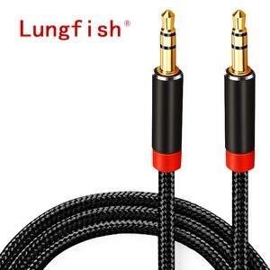 Image 1 - Lungfish aux cabo jack 3.5mm cabo de áudio 3.5mm jack alto falante 1m 2m 3m 5 m para iphone samsung xiaomi carro fone de ouvido alto falante