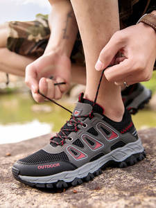 TKN Hiking Shoes Trail Outdoor-Sneakers Waterproof Summer Breathable Men's Lace-Up Man