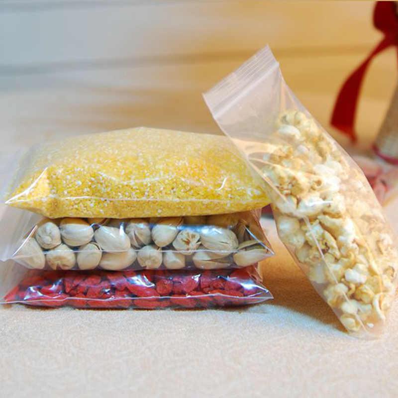 500 шт./упак. пищевой прозрачный стоьте вверх пластиковая застежка молния замок мешок для кофе упаковка пластиковый подарочный пакет, орехи пакет сухофруктов