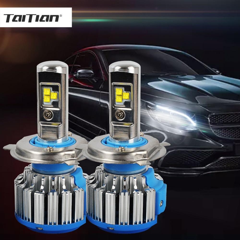 Taitian 2Pcs CSP 70W 9600LM 6000K 12V H1 turbo H7 LED Headlight H11 H4 Car Lamp 9005 HB3 9006 HB4 Led Fog light Bulb for lada 2 x h11 90w 9600lm p7 led car headlight conversion kit driving fog lamp bulb drl 6000k car light sourcing d25