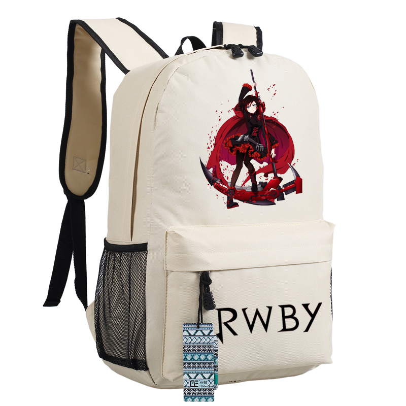 High Quality Anime Rwby Ruby Rose Cosplay Women Printing Backpack Canvas School Bags Fashion Laptop Female Backpack Rucksack #2