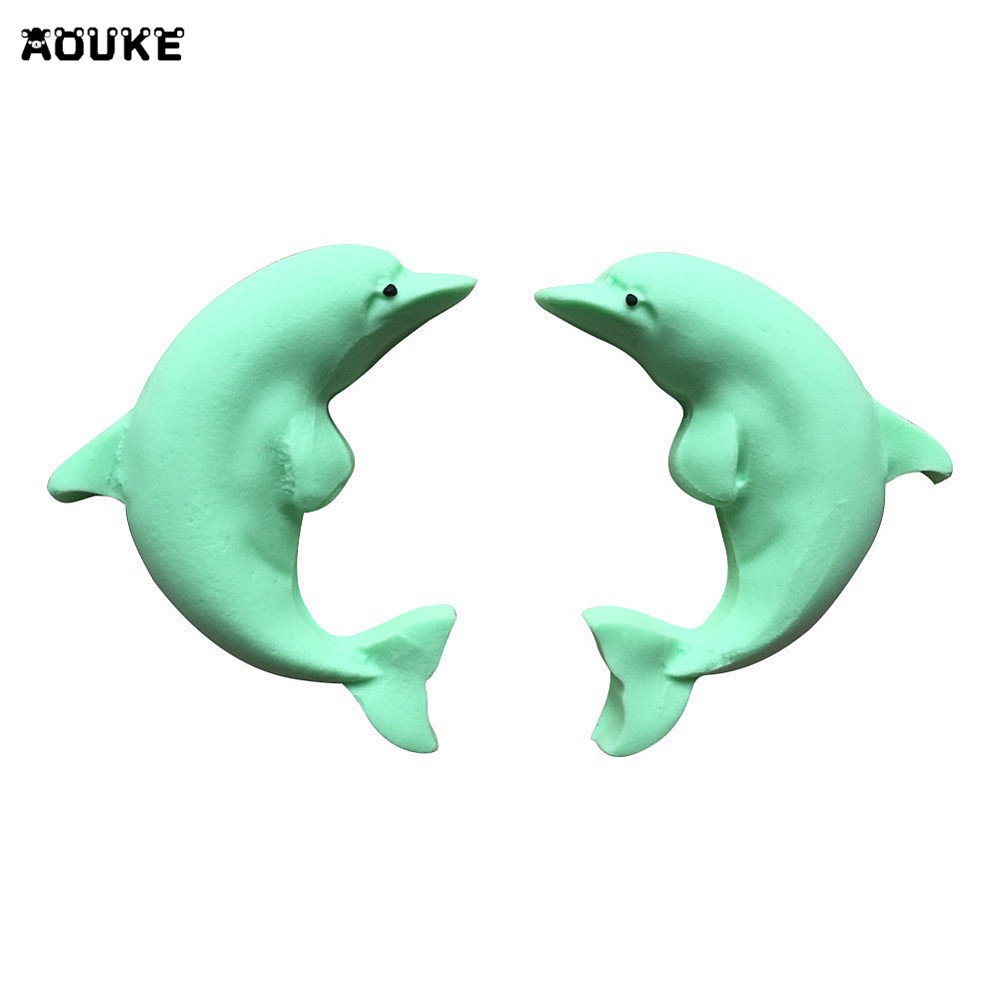 Cute Dolphin Fondant Cake Silicone Mold Cookies Candy Mould Pastry ...