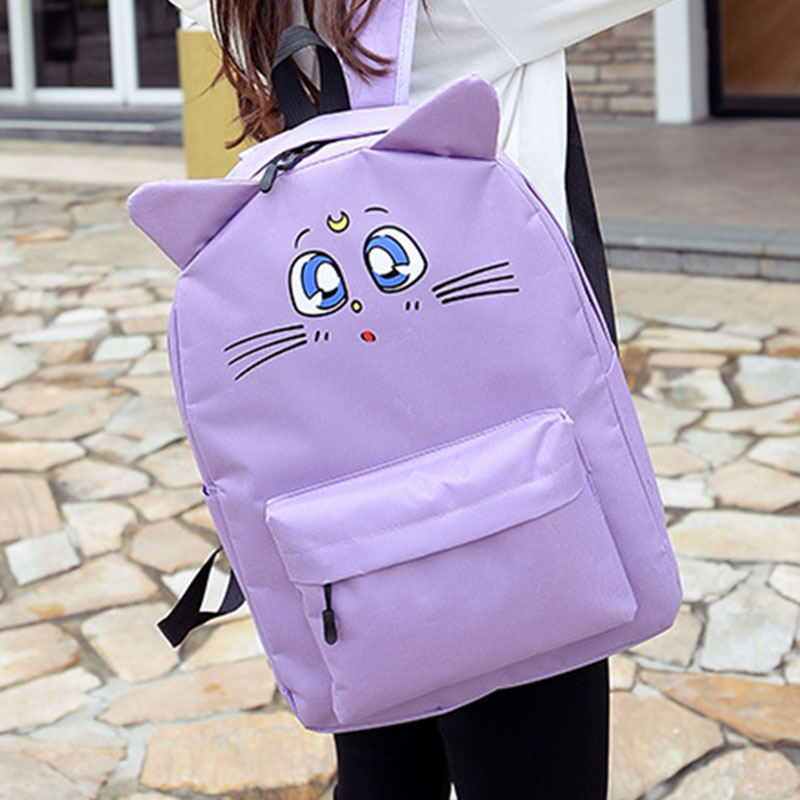 Nylon Backpack Cute Cat Ear Travel Bag Harajuku Style Backpacks School Bags For Teenager Girls Book Rucksack Sac a Dos