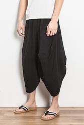M-4XL! 2018 китайский стиль белье брюки длиной до щиколотки висит промежность Штаны мужской штаны-шаровары Большие размеры свободные шаровары