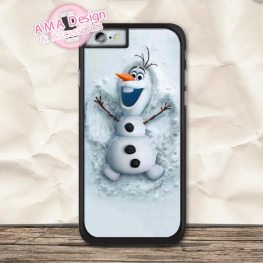 Olaf Snowman Lovely Pattern Print Cover Case For iPhone X 8 7 6 6s Plus 5 5s SE 5c 4 4s For iPod Touch