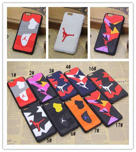 Para iphone 6 teléfono case 3d jordan baloncesto deporte teléfono contraportada