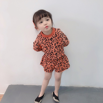 Kids Tales baby girls clothes summer polka dot cotton sets shirts+pants 2pcs Suits for children 0-6 kids wear MB500 1