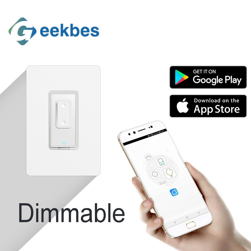 Geekbes WiFi Smart Home Dimmable switch for dimmable bulb