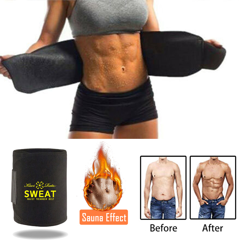 Band-Wrap Waist-Trimmer-Belt Sauna-Sweat-Belt Weight-Loss-Sweat Stomach Lumbar Fitness title=