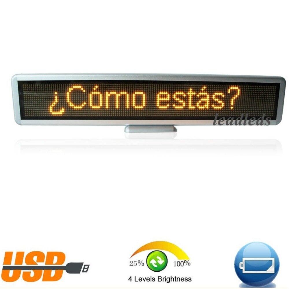 alto brilho 16x128 do sinal do carro levou sinal de mensagem programavel em movimento de rolagem