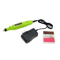 US/Eu-stecker Stift Geformt Elektrische Nail art Tipps Polnischen Bohrdateien Maschine Maniküre 6 Bits