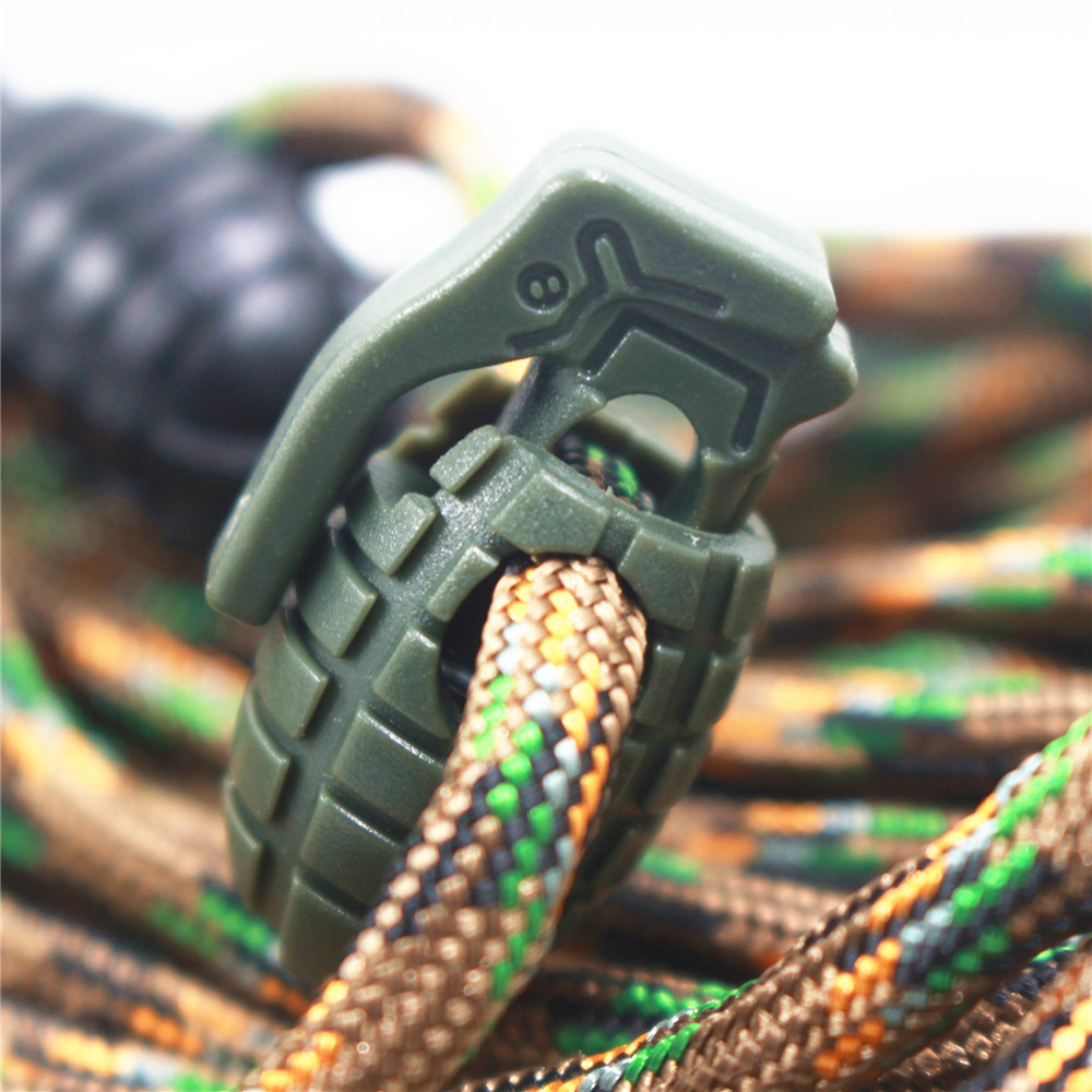 10PCS Shoe Lace Buck Boots Shoes Grenade Shoelace Tightening Non-Slip Buckle Shoelace Buckle Clip EDC Outdoor Hiking Camping Ac