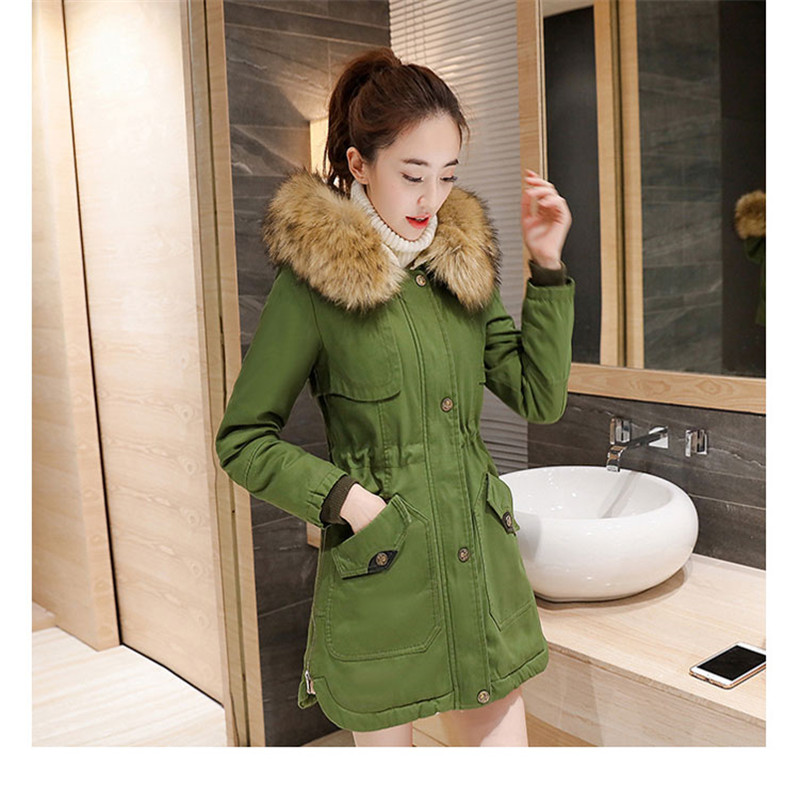 Women Winter Parka Hooded Cotton Jacket And Long Sections Slim Was Thin Fashion Cotton Ladies Winter Jacket TT112 women thin parka spring autumn plus size 3xl 4xl red black femlae warmer winter cotton jacket slim fit fashion thin parkas a3444
