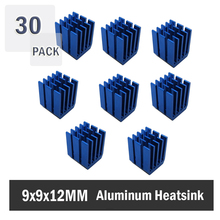 30PCS 9 x 12mm Cooler Heat Sink Aluminum Mini IC Chipset Cooling Heatsinks
