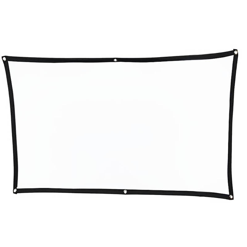 Thinyou Simple Soft Portable Projector Screen Foldable Outdoor 60 inch 72 84 100 120 16:9