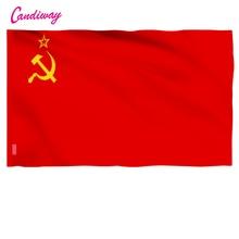 11,11 Высокое качество Красный CCCP СССР флаг для наружного и внутреннего размещения домашний декор 96*64 см NN001