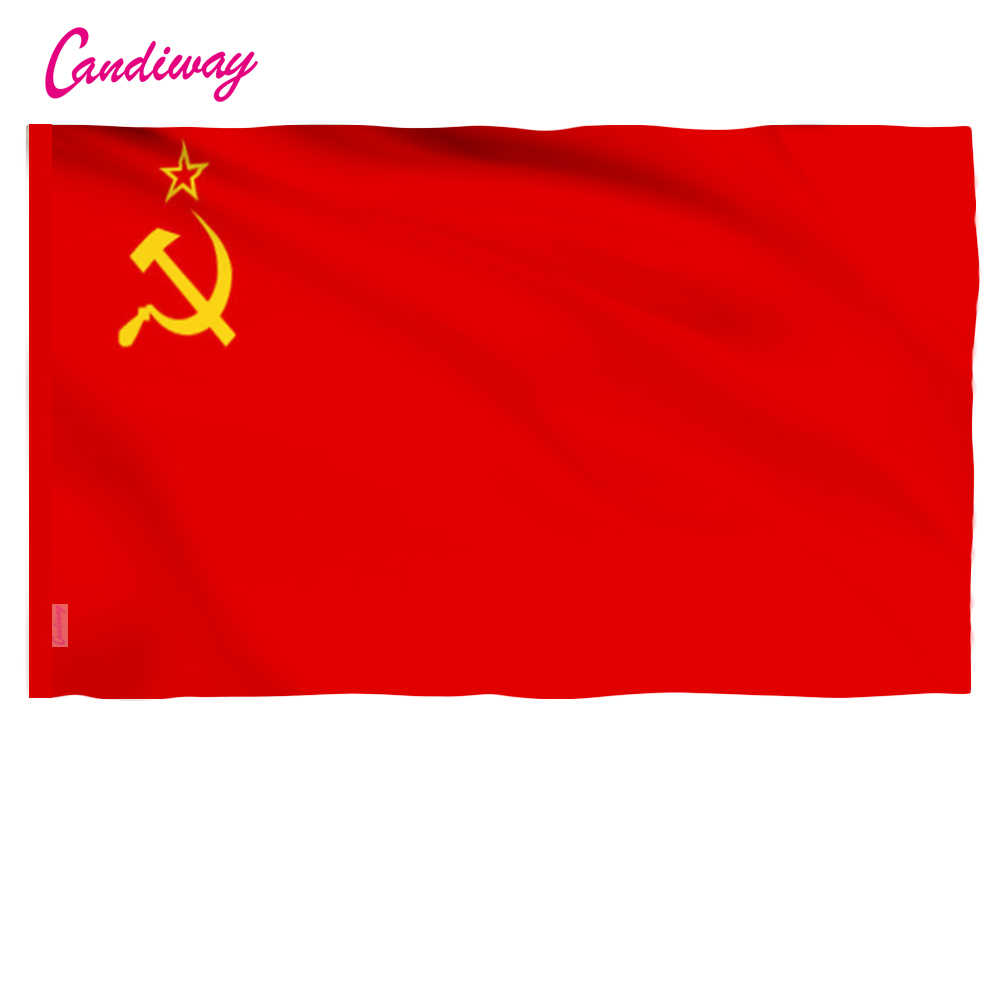 11.11 High Quality Red CCCP Union of Soviet Socialist Republics USSR Flag Banner Indoor Outdoor Home Decor 96*64cm NN001