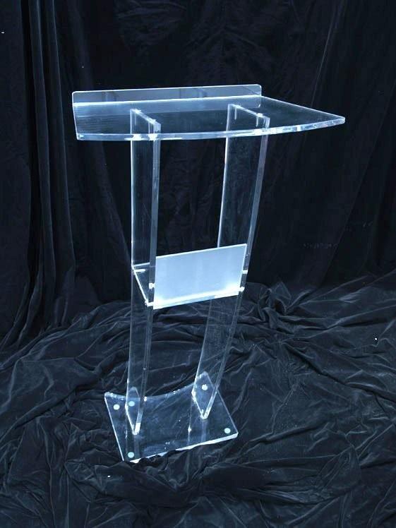 Fashion New Style Design Modern Acrylic Podium, Transparent Acrylic Glass Podium, Frosted Acrylic Podium