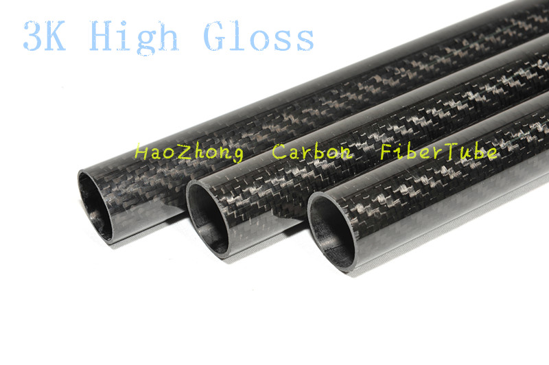 2pcs 3k Carbon Fiber Tube OD38mm 40mm 42mm 44mm 45mm 46mm X500mm Roll Wrapped Light Weight