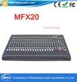 Профессиональные 20 канала Мощность Караоке Студийный Микрофон Audio Mixer MFX20