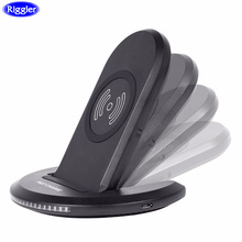 Riggler Folding Fast Charge Stand 10W Qi Wireless Adapter Holder for iphone XS MAX X 8 Plus Samsung Galaxy S9 S8 Note8