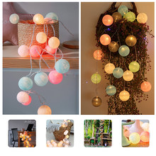 Anpro 3m 20 Cotton Balls LED String Lights USB Powered Christmas Bedroom Garland Cotton Ball Light Guirlande Lumineuse Lights(China)