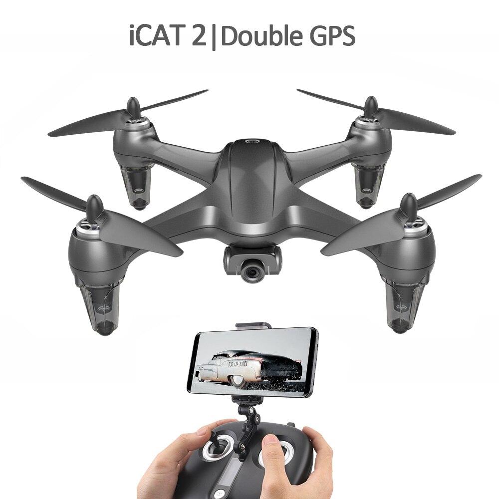SMRC ICAT2 moteur Brushless Double GPS 1080P réglage électrique lentille wifi caméra drone 20 longues minutes mode sans tête hélicoptère