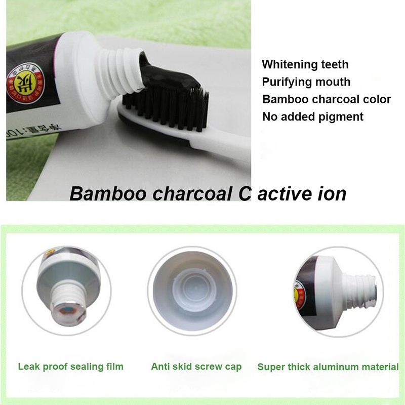 100g Whitening Oral Hygiene Bamboo Charcoal Toothpaste Universal