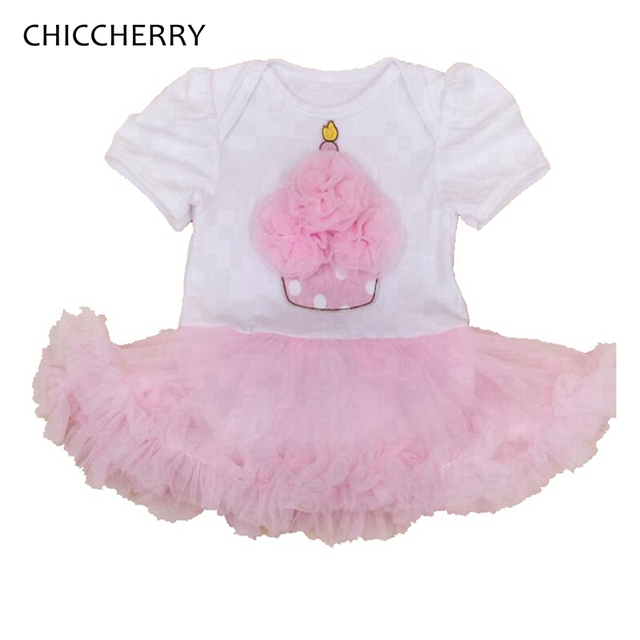 Pink Cupcake One Piece Baby Lace Romper Dress Classic Infant Birthday Tutu Outfits Ropa De Bebe Cute Dots Toddler Girl Clothes